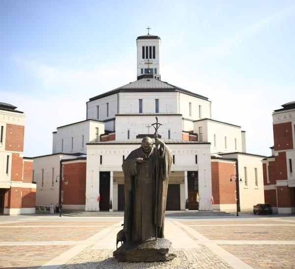 Eksterior Sanctuarium Yohanes Paulus II di Krakow