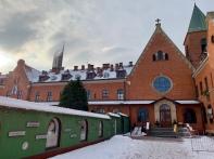 Bagian depan kapel utama Kerahiman Ilahi